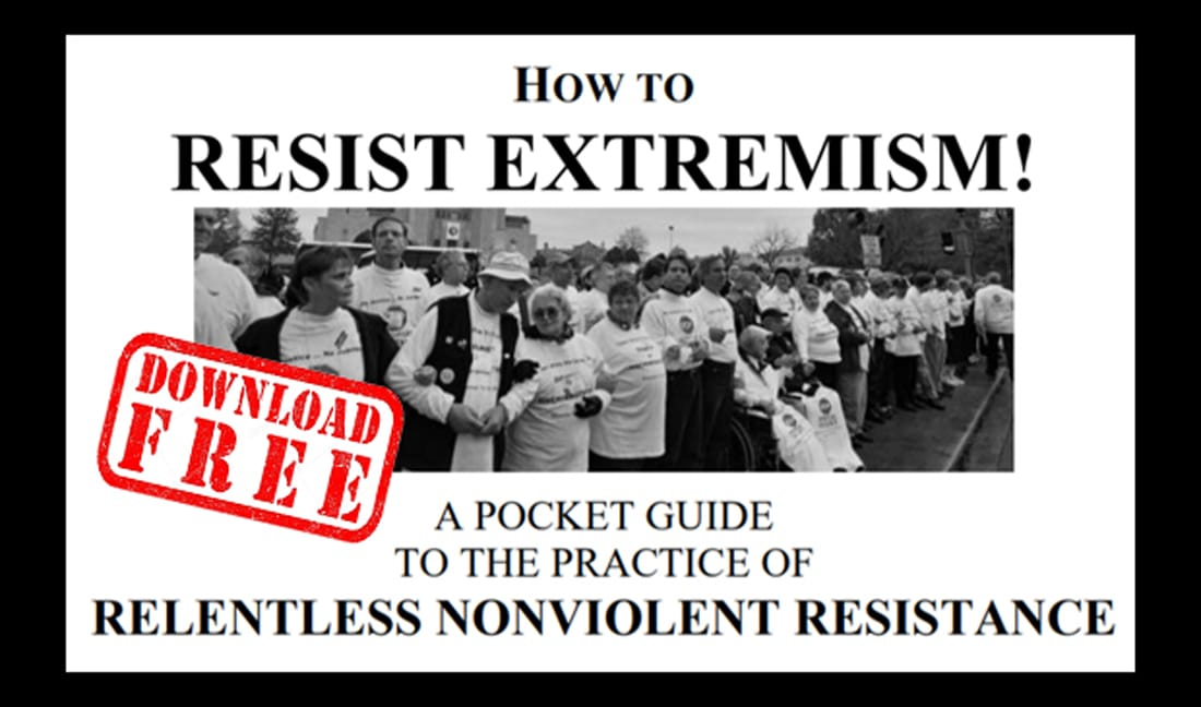 """Download """"How To Resist Extremism..."""" Printable Pocket Guide by Mel White"""