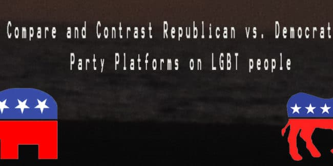 Republican vs. Democratic Party Platforms on LGBT People